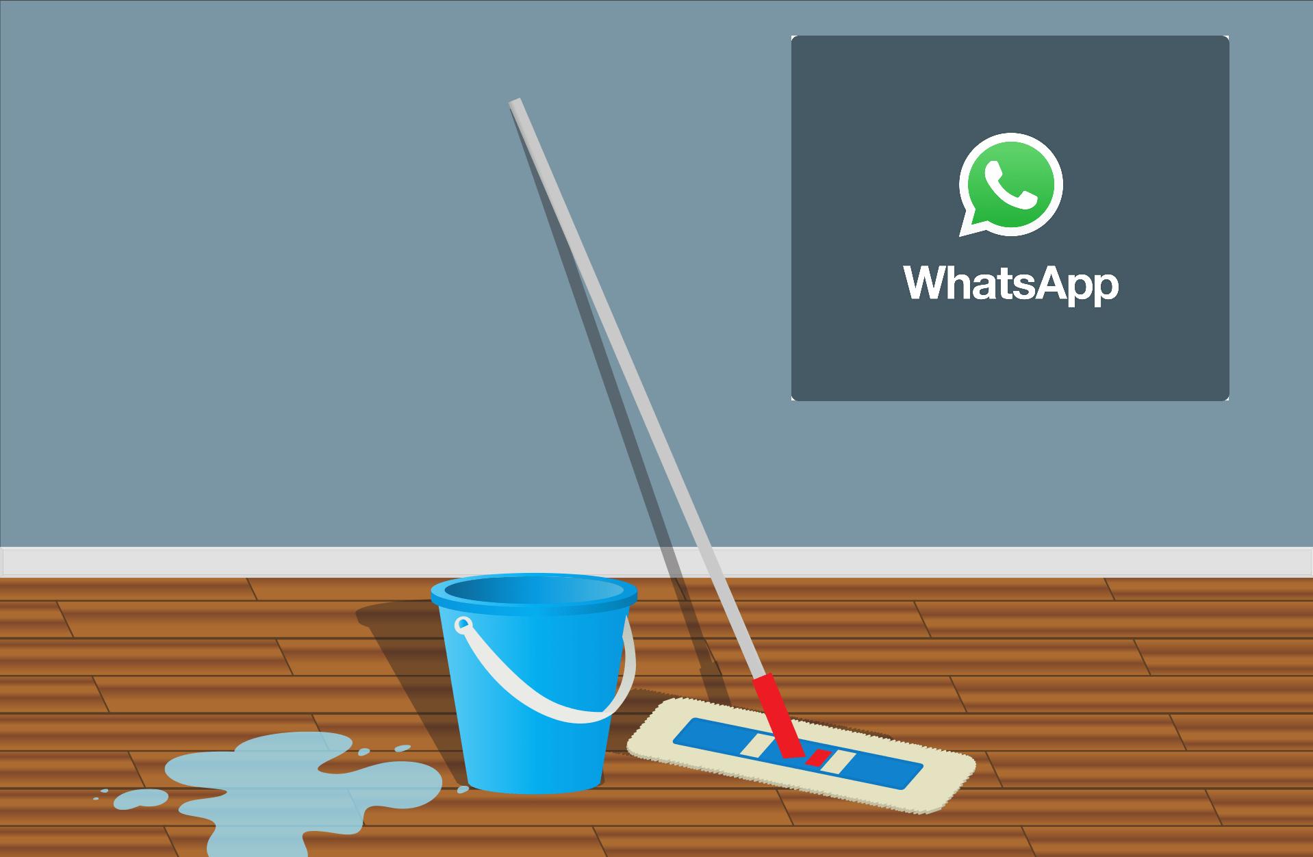 Como limpiar WhatsApp en el iPhone