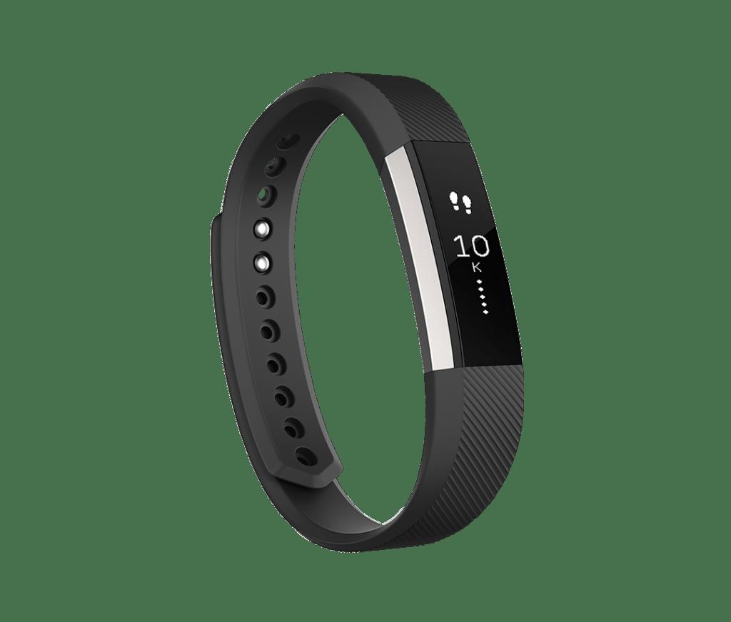 Pulsera de actividad Fitbit Alta negra, vista de perfil